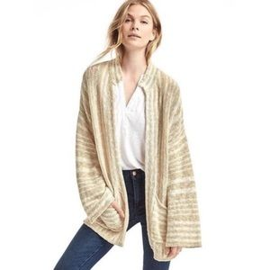 GAP oatmeal striped cardigan